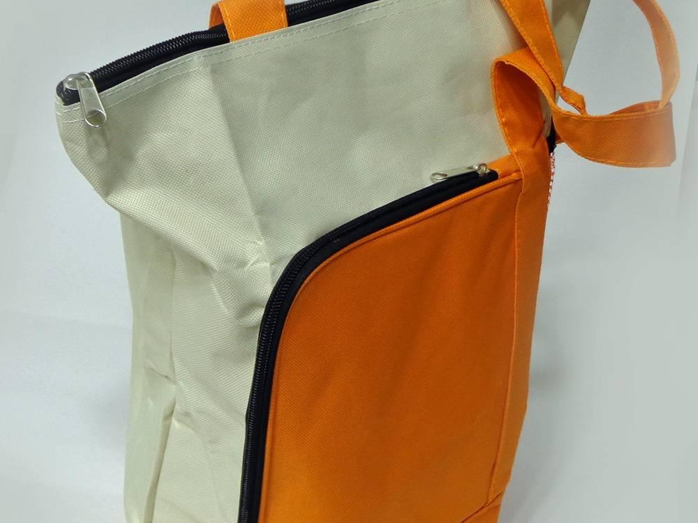Work instrument bag, orange & buff. Volume 100x250x300mm