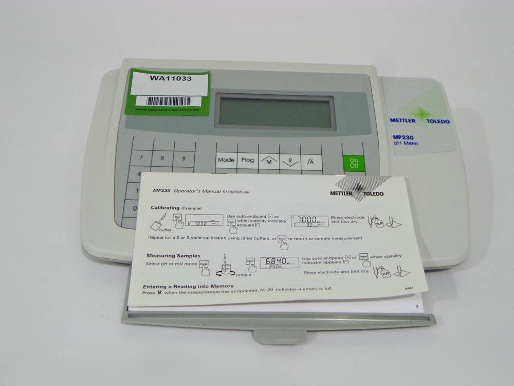 Mettler Toledo MP230 GLP Research pH/mV/C Meter With Manual.