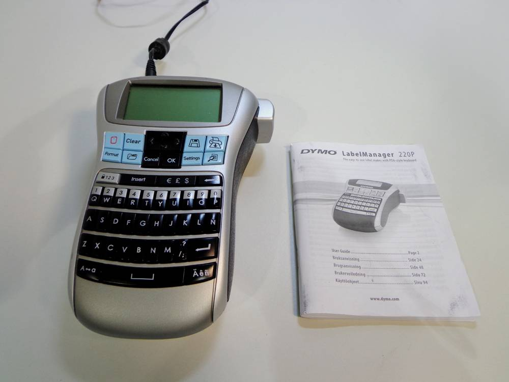 Dymo LabelManager 220P Portable Label Thermal Printer.