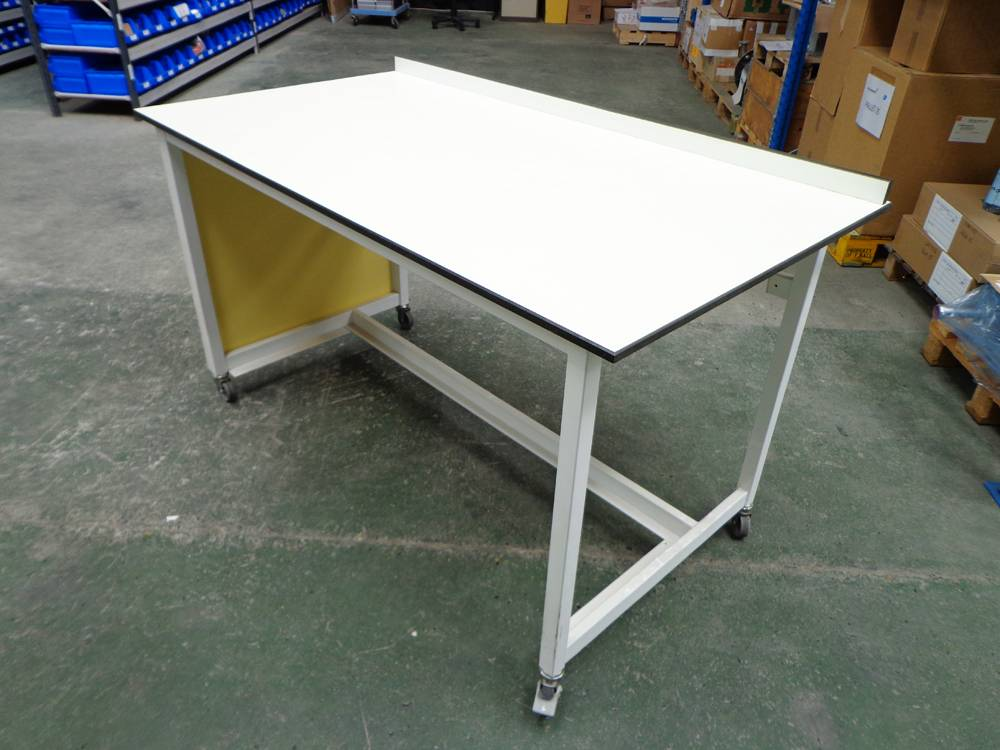 Proprietary Mobile Laboratory Bench and End Panel with Light Trespa Type Worktop.