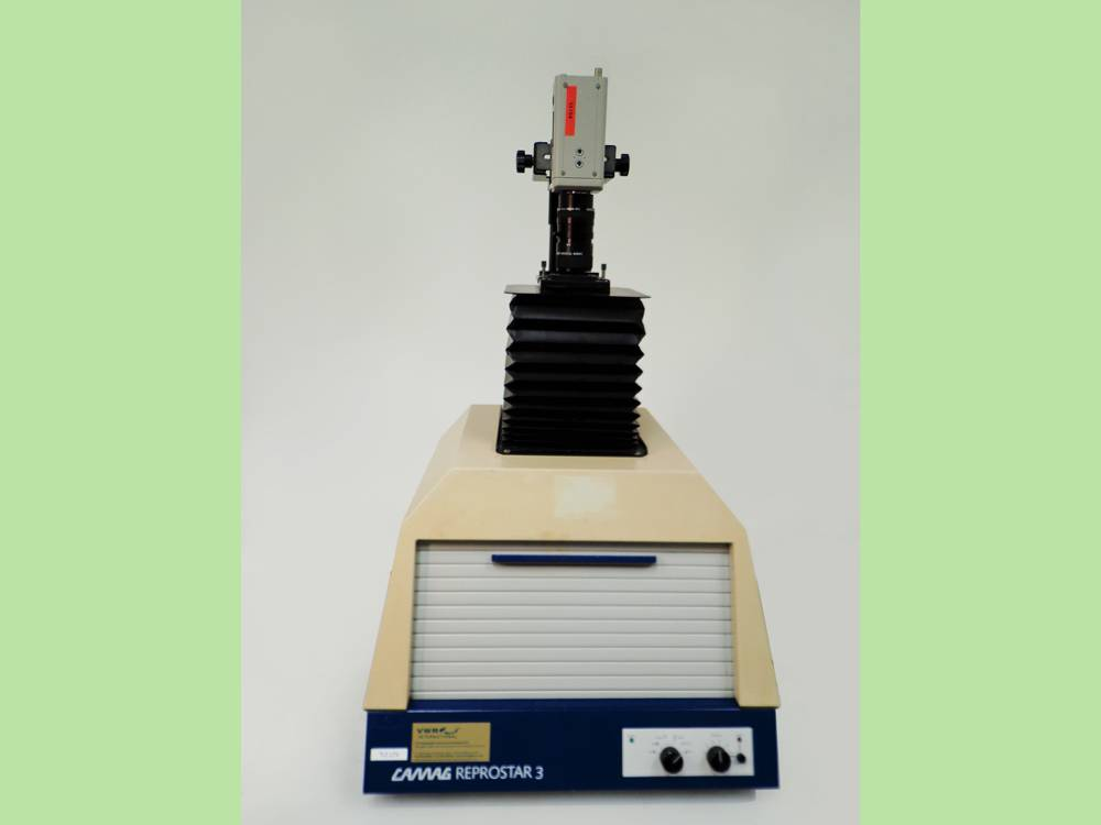 Camag Reprostar 3 Documentation Densitometry, Cat.No. 022.9610, with Hitachi Colour Video Camera.