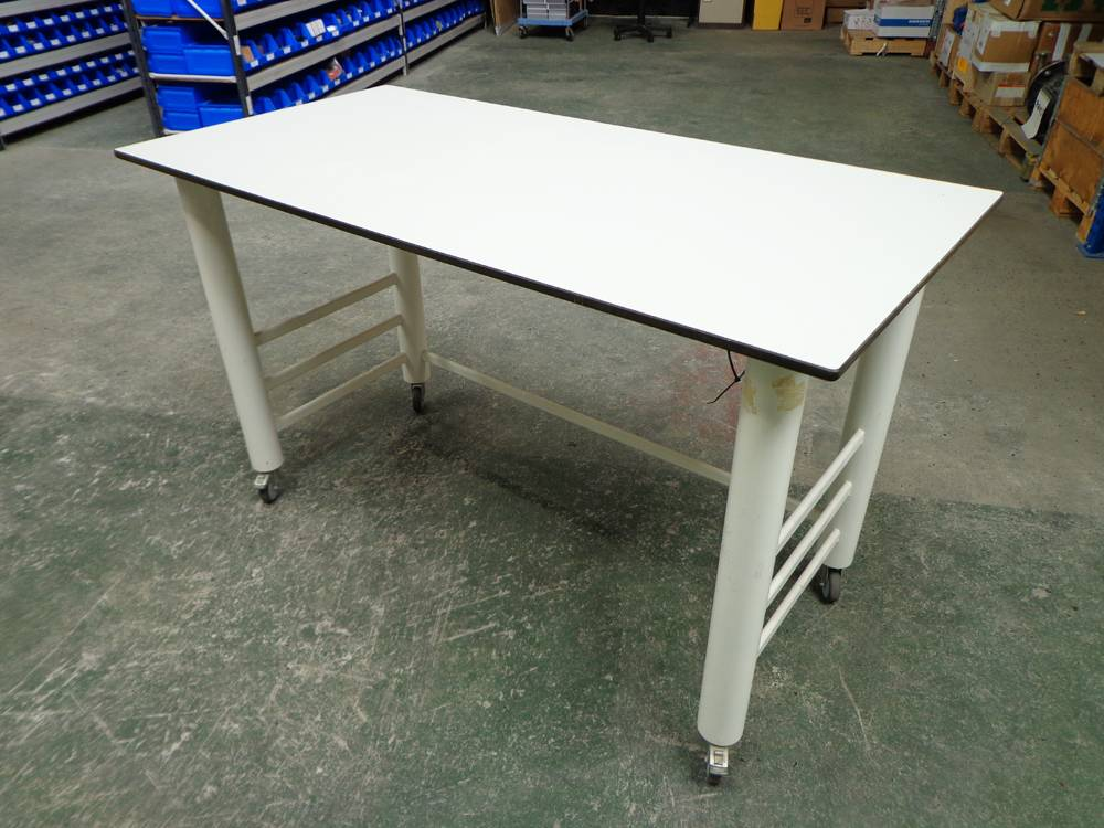 Proprietary Mobile Laboratory Bench with Under Slung Power and with Light Trespa Type Worktop.